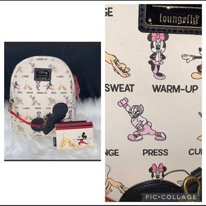 Loungefly Mickey & Friends workout backpack/card